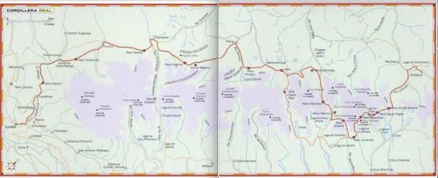 The CLassic Trans-Cordillera Real Trekking Route