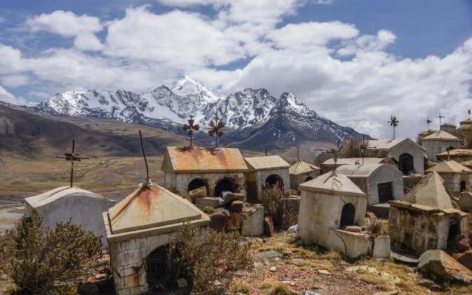 the miners' graveyard near Milluni