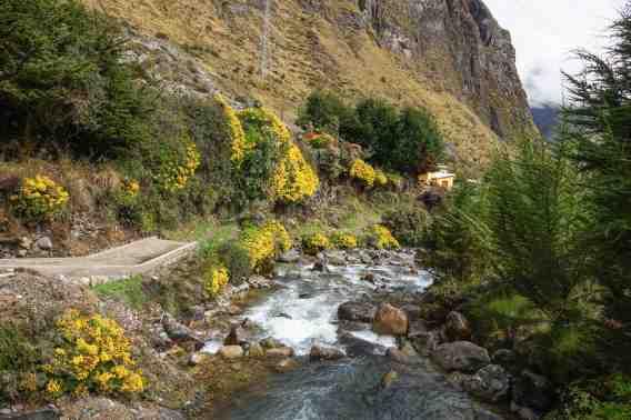 the river tumbles down through Botijlaca