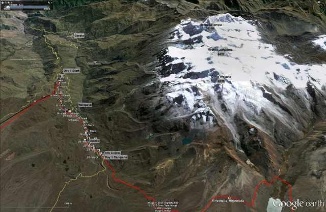 Trans-Cordillera Real Day 1 (S of Sorata to Alto Llojena)
