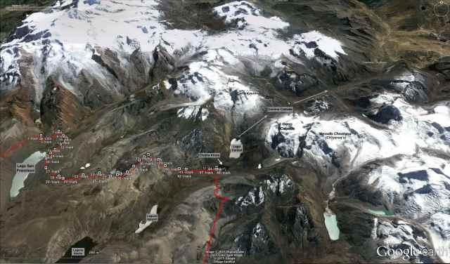 Trans-Cordillera Real Day 3 (Lago San Francisco to Chojña Khota)