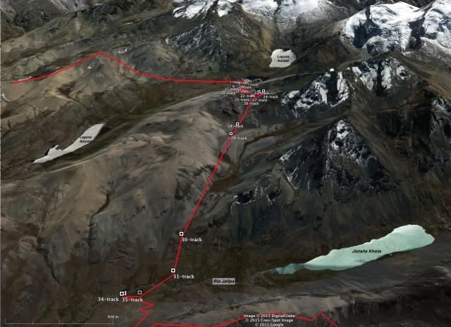 Trans-Cordillera Real Day 4 (Chojña Khota to Rio Jallpa below Jistaña Khota) )