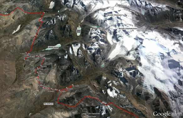 Trans-Cordillera Real Day 5 (Rio Jallpa below Jistaña Khota to Rio Kellhuani)
