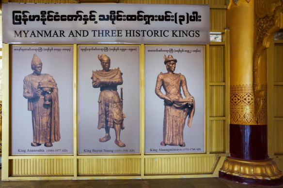 a celebration of Three Great Bamar Kings of the Past 1000 years