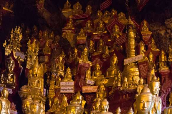 a few of the almost 10,000 Buddhas in the Pindaya Cave