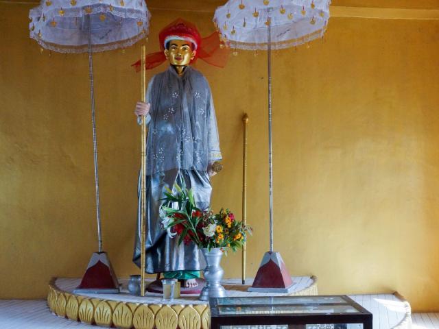 a Nat figure at Hintha Gon in Bago