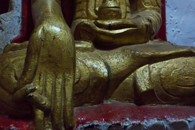 close up of aa nearby Buddha with similar mudra