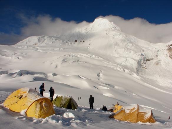 Cordillera Blanca's Tocllaraju high camp