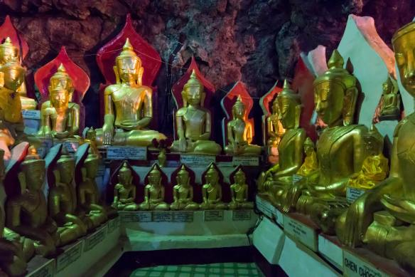 many Buddhas, all in a row
