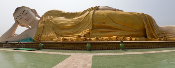Mya Tha Lyaung Reclining Buddha Bago Myanmar