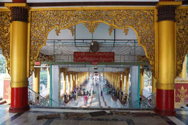 one of the covered walkways to the Shwemawdaw terrace