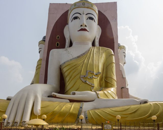 one of the four Kayak Pun seated Buddhas in Touching The Earth mudra