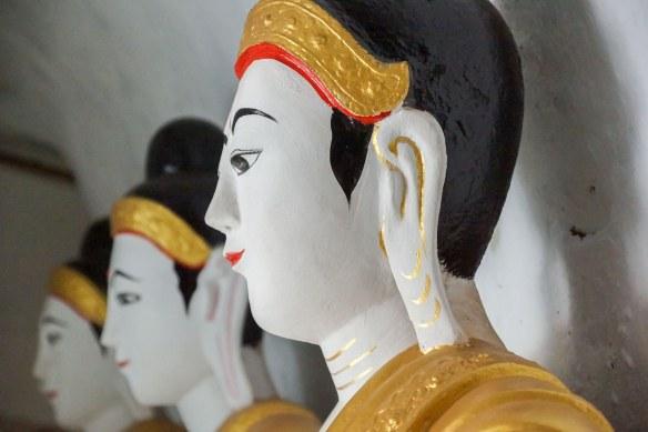 one of the Shwegugale Buddhas - head