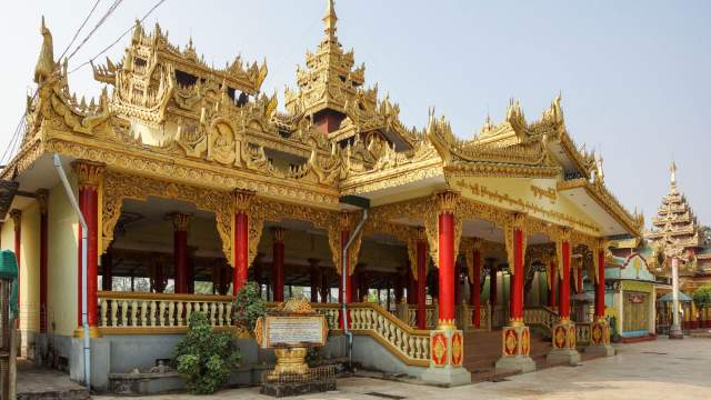 pavilion at Shwemawdaw Pagoda - perhaps for overnighting pilgrims