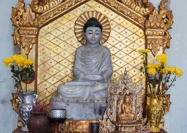 seated Buddha in meditation pose (dhyana mudra)