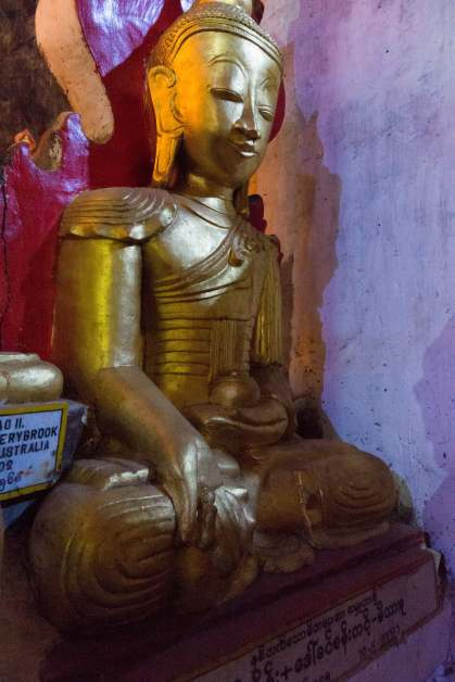 seated Buddha with medicine bowl and the dharma seed?