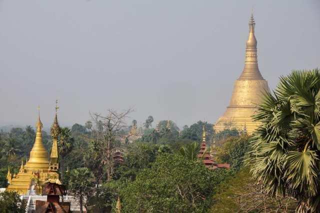 Shwemawdaw Pagoda (Zedi) from the terrace of the Hintha Gon