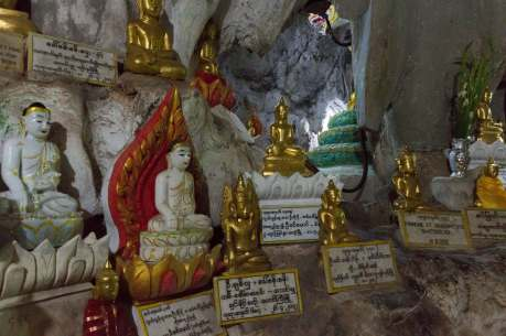 smaller Buddha figures and their donors