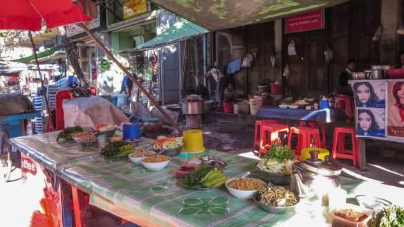 street side eatery in Zay Cho area