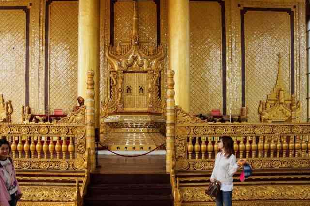 the throne room at Kanbawzathadi Palace