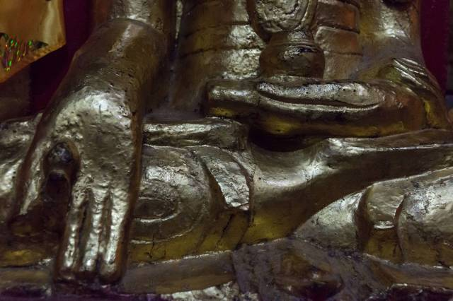 yet another Pindaya Buddha with the unusual mudra