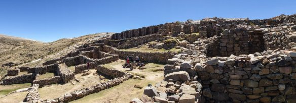 a panorama of the Chincana ruins