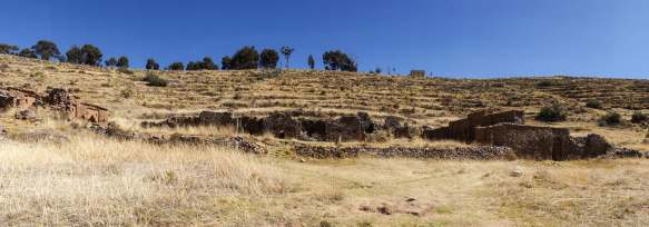 a panorama of the Isla de la Luna site