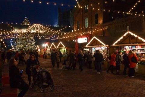 Distillery District - the main shopping area