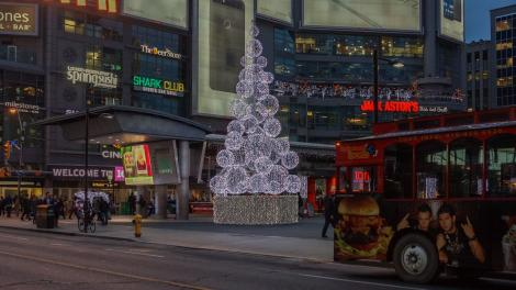 Dundas Square Xmas tree - December 2015