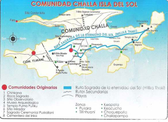 isla de sol map with sites