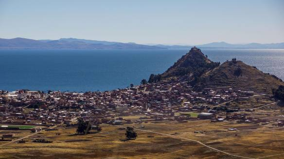Lake Titicaca and the two hills of Copacabana