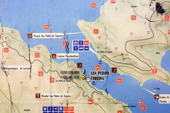 map of Estrecho de Tiquina area