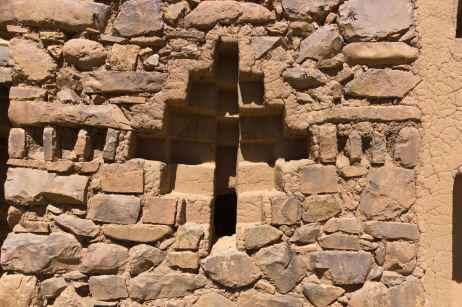 stone and mortar - and a bit of adobe - work at Isla de la Luna site