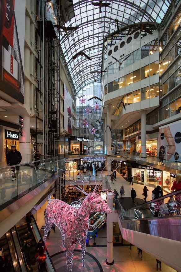 the Eaton Center - looking towards Queen Street
