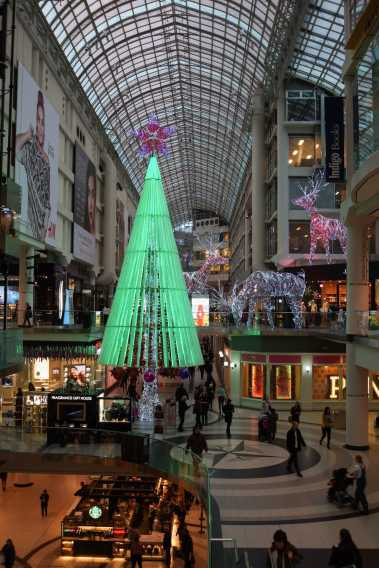 the Eaton Center Xmas Tree