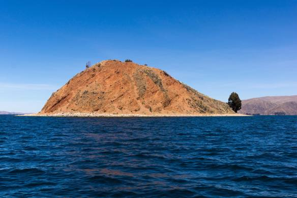 the tip of the Island of the Moon in Lake Titicaca