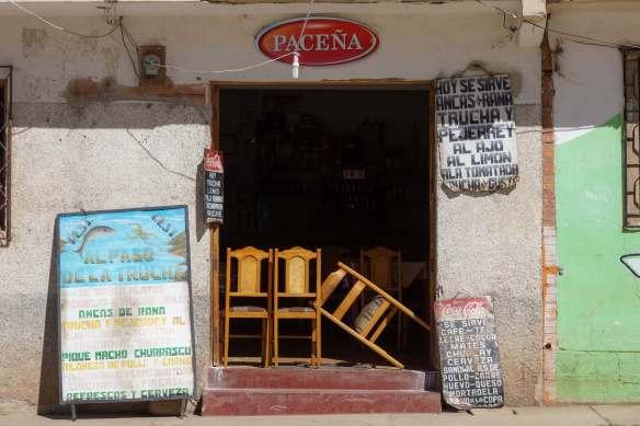 trucha is the big seller along the Lago Titicaca coast