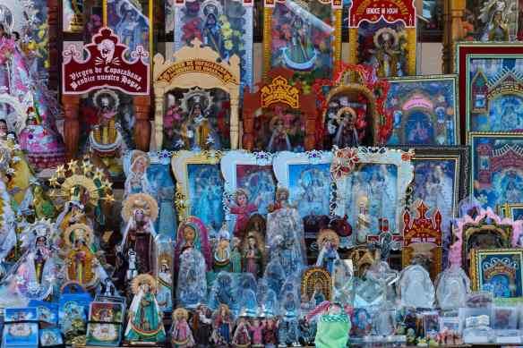 Virgen de Copacabana replicas for pilgrims