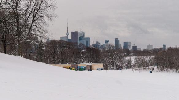 a view of the city from Broadview Avenue