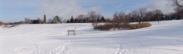 looking at the other great snow sliding hill - Broadview Avenue