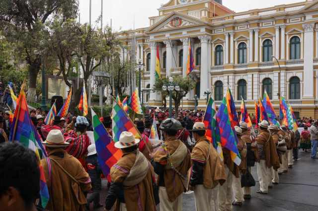 Plaza Murillo and National Assembly on Bertolina Sisi Day