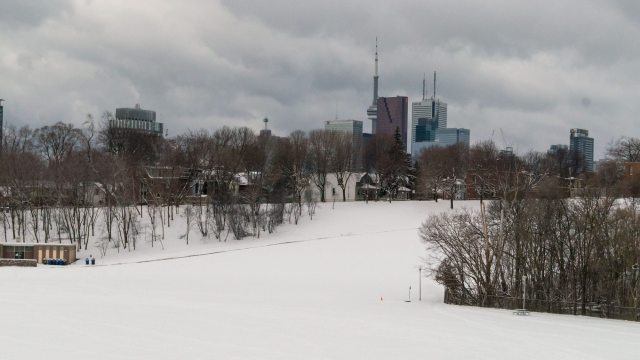 Riverdale Park West and the great tobagganing hill
