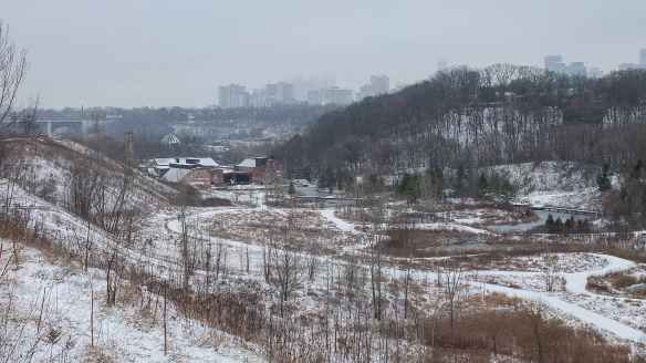 a view of downtown T.O. from above the Brickworks