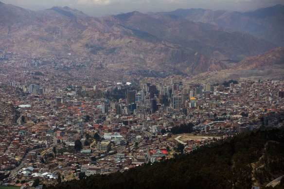 a view of La Paz from El Alto