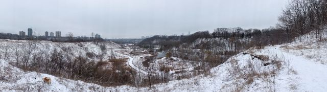 looking south - the grand view of Toronto from the Brickworks lookout