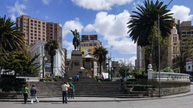 Plaza Antonio José de Sucre just below Plaza del Estudiante