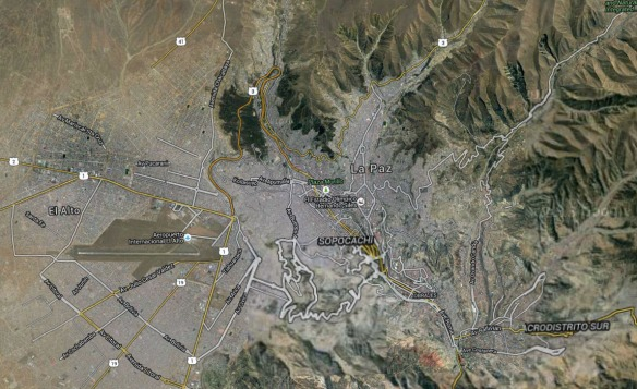 satellite shot of El Alto- La Paz