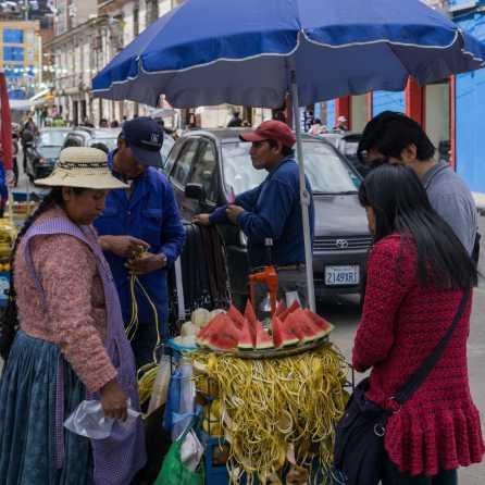 street vendor on a side street near San Francisco Church