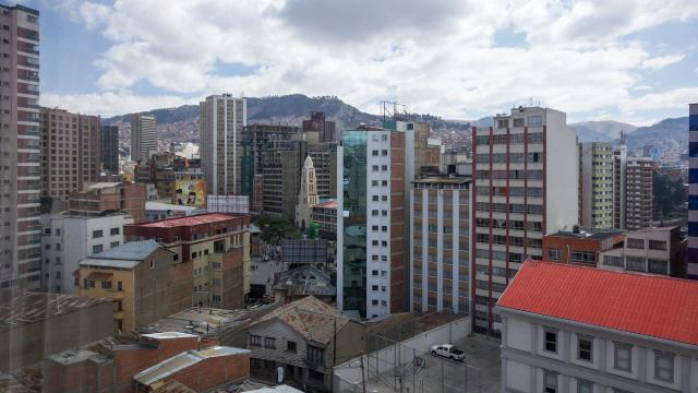 yet another view - the buildings around Plaza del Estudiante in La Paz
