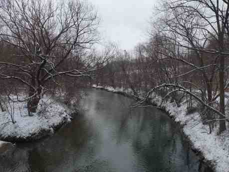 the Don River just before it goes under Bayview Avenue
